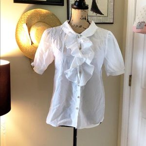 Marc by Marc Jacobs ruffle blouse sz 10